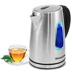Elite Platinum 1.7L Stainless Steel Cordless Electric Kettle