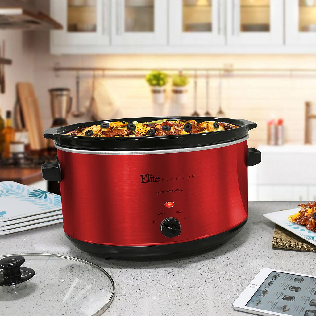 Elite Platinum 8 1/2-qt. Stainless Steel Slow Cooker