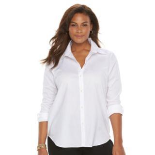 Plus Size Chaps No Iron Shirt
