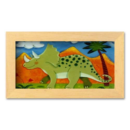 Art.com Timmy the Triceratops Framed Art Print by Sophie Harding