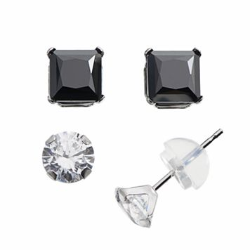 Renaissance Collection 10k White Gold 2 1/2-ct. T.W. Stud Earring Set - Made with Swarovski Zirconia