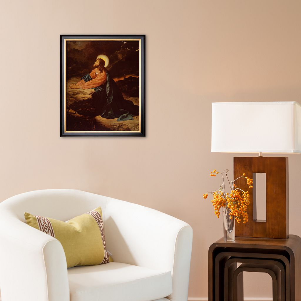Art.com Christ in Gethsemane Framed Art Print by E. Goodman
