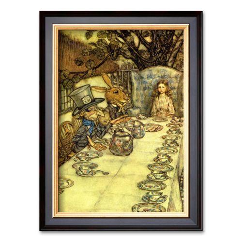 Art.com The Mad Tea Party Framed Art Print by Arthur Rackham