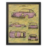 """Art.com """"Porsche Patent"""" Framed Art Print"""