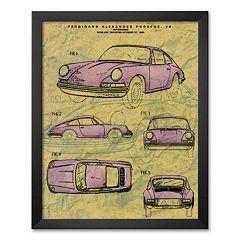 Art.com 'Porsche Patent' Framed Art Print