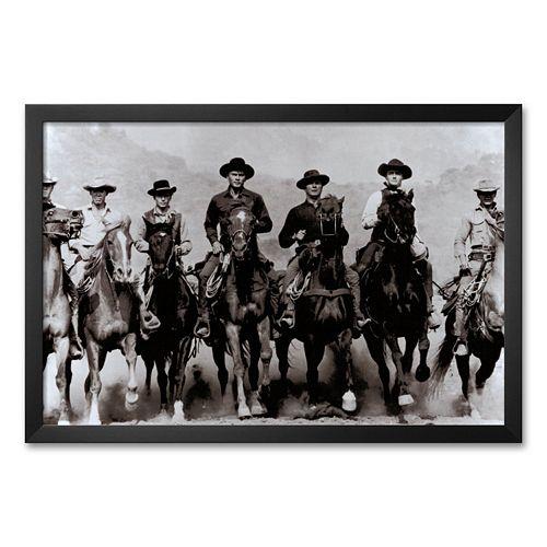 """Art.com """"The Magnificent Seven"""" Framed Art Print"""
