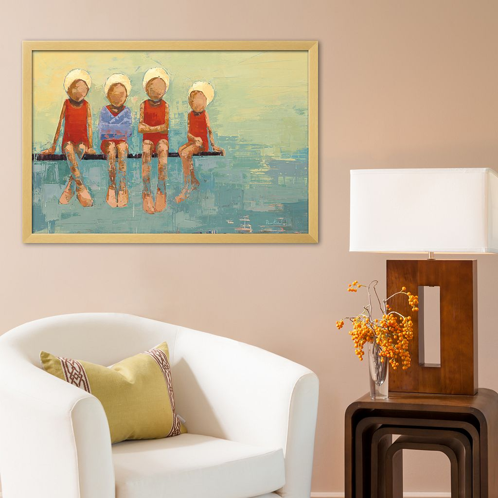 Art.com Swimteam no. 9 Framed Art Print by Becky Kinkead