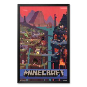 Art.com Minecraft Cube Framed Art Print