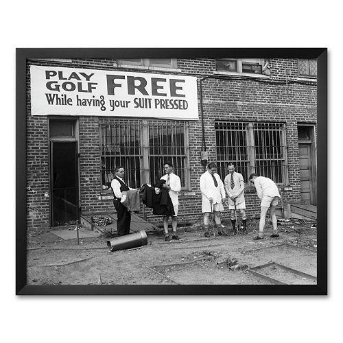 "Art.com ""Free Golf"" Framed Art Print"