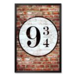 "Art.com ""Platform 9 3/4 King's Cross"" Framed Art Print"