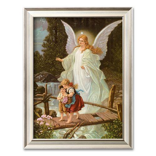 artcom heilige schutzengel framed art print