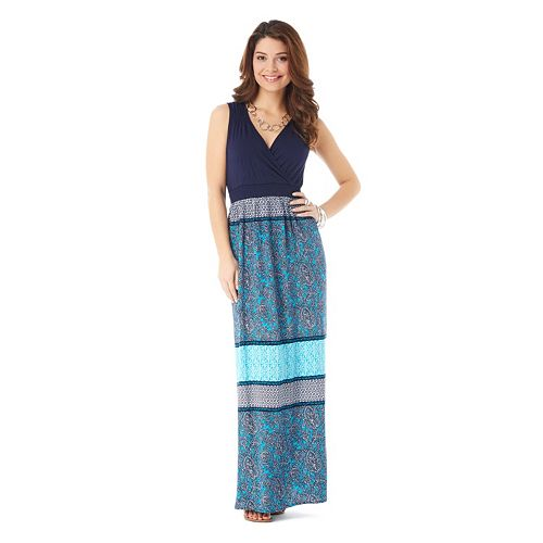 daisy fuentes® Surplice Maxi Dress - Women's
