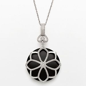 Artistique sterling silver crystal flower pendant made with sale aloadofball Choice Image