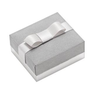 14k Gold-Bonded Sterling Silver Crystal J-Hoop Earrings