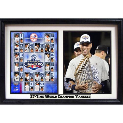 New York Yankees 2009 World Series Champions Double Custom Frame