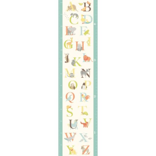 WallPops ABC Jungle Growth Chart Wall Decal