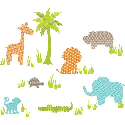 WallPops Jungle Friends Wall Decals