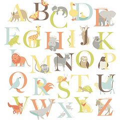 WallPops Alphabet Zoo Wall Decals