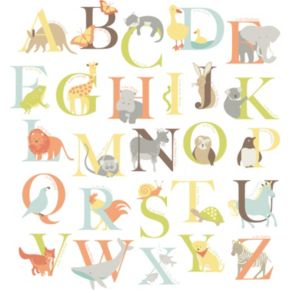 WallPops Alphabet Zoo Wall Decals
