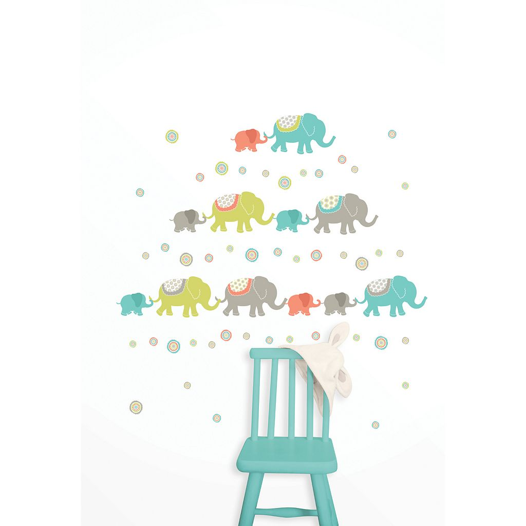 WallPops Tag Along Elephants Wall Decals