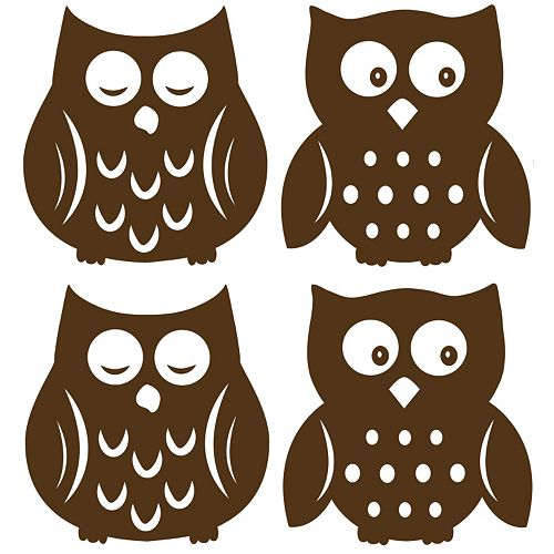 WallPops Owl Silhouettes Wall Decals