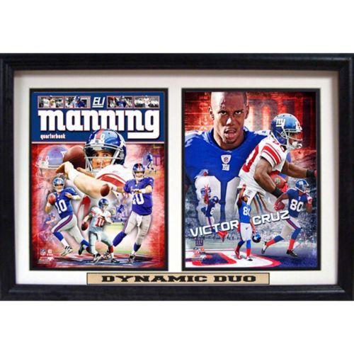 New York Giants Eli Manning and Victor Cruz Double Custom Frame