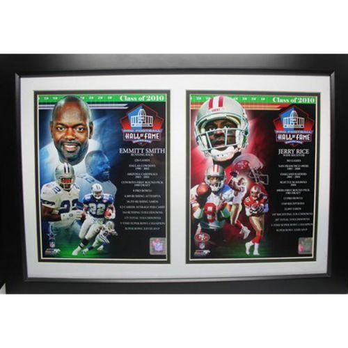 Jerry Rice and Emmitt Smith 2010 HOF Double Custom Frame