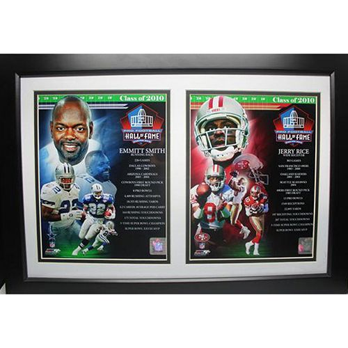 Jerry Rice and Emmitt Smith 2010 HOF Double Custom Frame