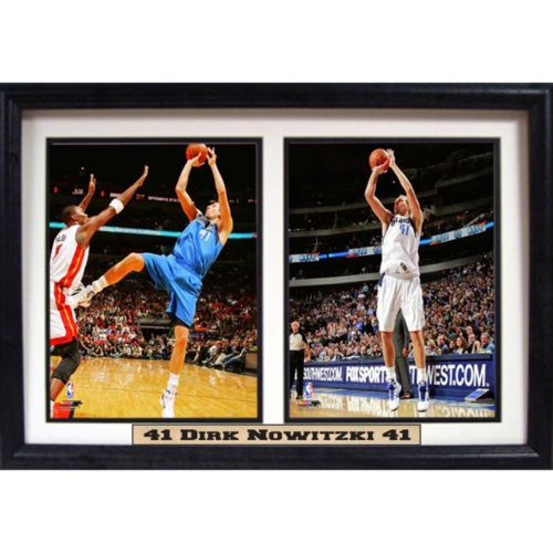 Dallas Mavericks Dirk Nowitski Double Custom Frame