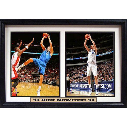 Dallas Mavericks Dirk Nowitski Double Custom Frame