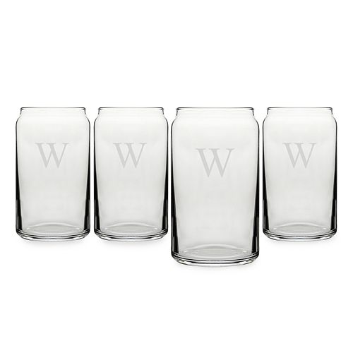 Cathy's Concepts Monogram 4-pc. Craft Beer Can Glass Set
