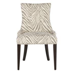 Safavieh Becca Gray Zebra Dining Chair