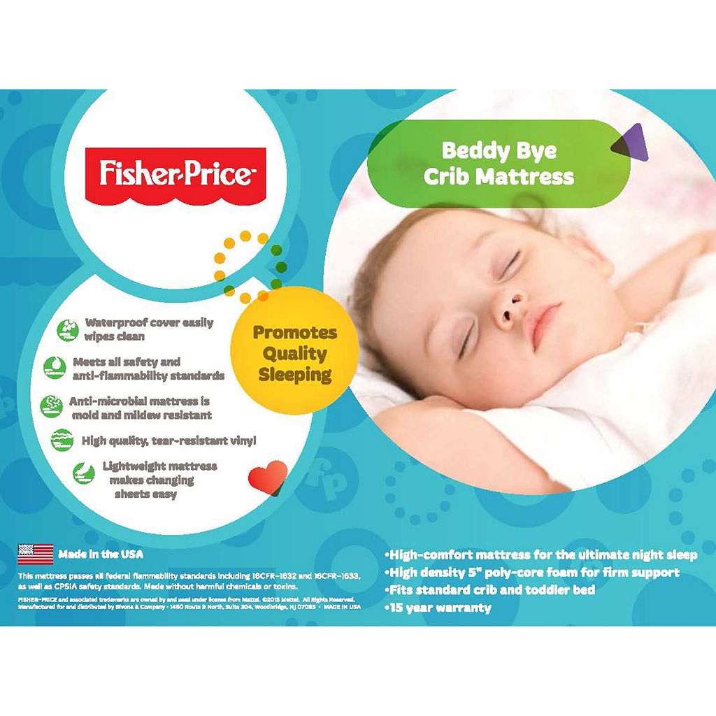 Fisher-Price Beddy Bye Crib Mattress