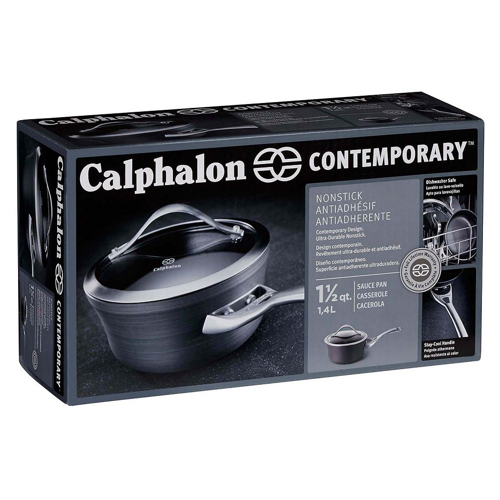 Calphalon Contemporary Nonstick 1.5-qt. Hard-Anodized Covered Saucepan