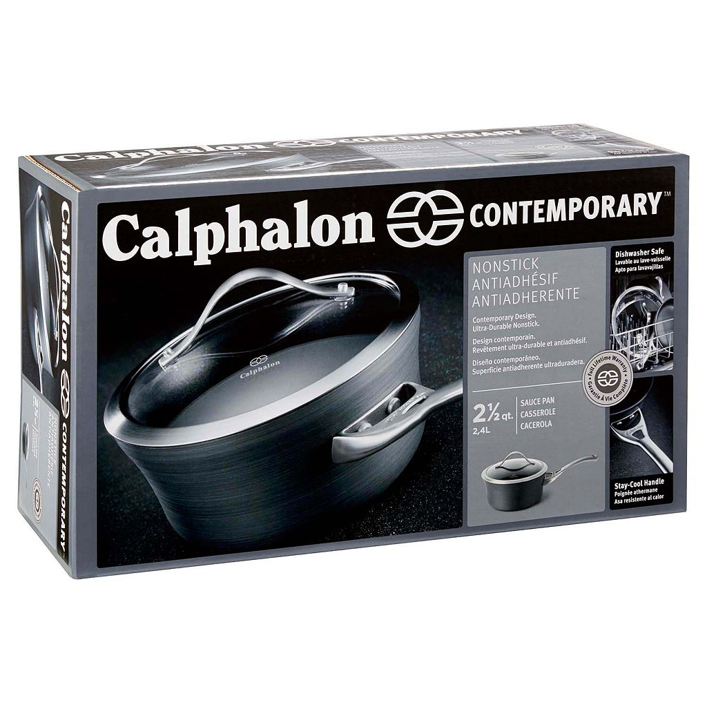 Calphalon Contemporary Nonstick 2.5-qt. Hard-Anodized Covered Saucepan