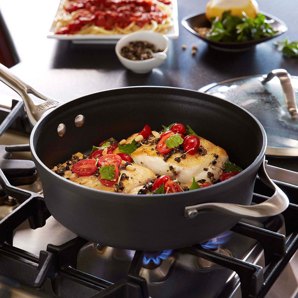 Calphalon Contemporary Nonstick 3-qt. Hard-Anodized Covered Saute Pan