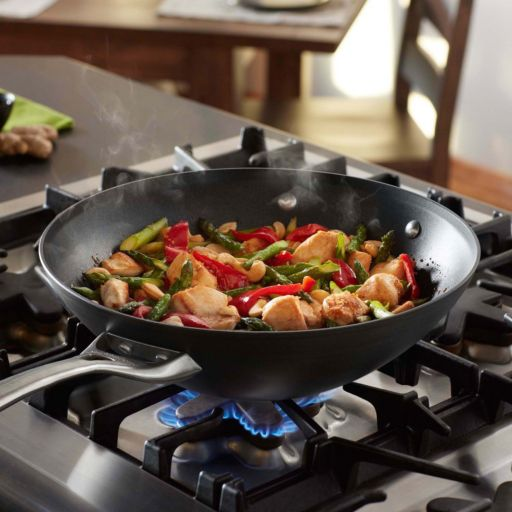 Calphalon Contemporary Nonstick 12-in. Hard-Anodized Flat-Bottom Wok