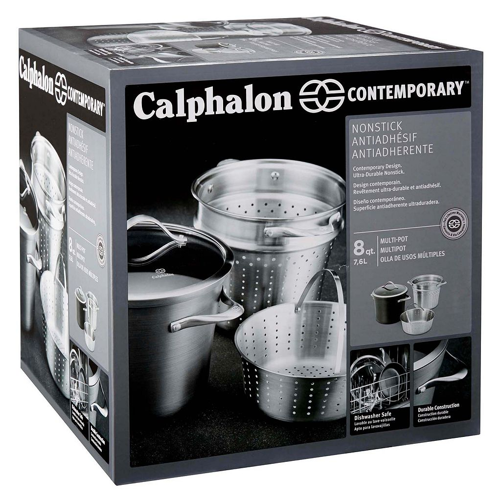 Calphalon Contemporary Nonstick 8-qt. Hard-Anodized Covered Multipot Set