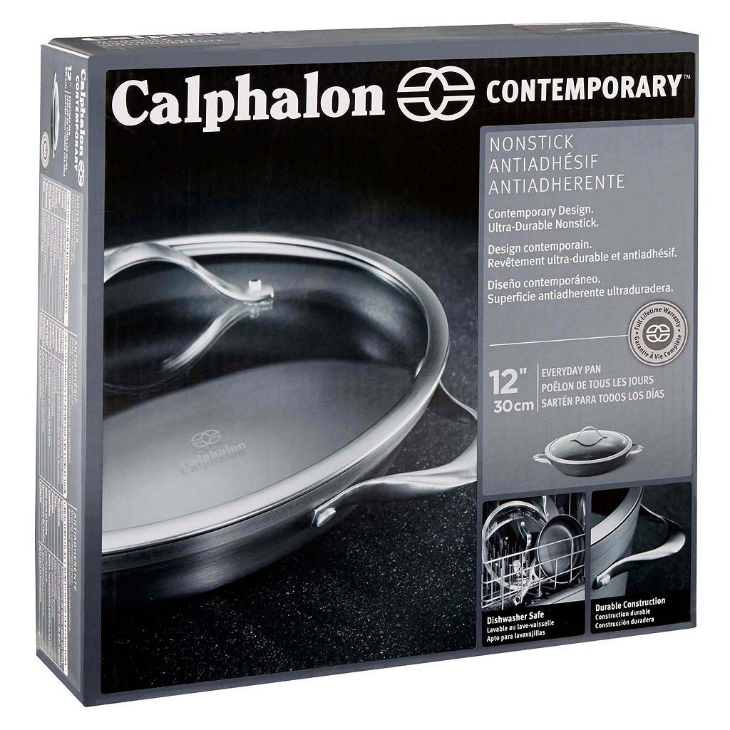 Calphalon Contemporary Nonstick 12-in. Hard-Anodized Covered Everyday Pan