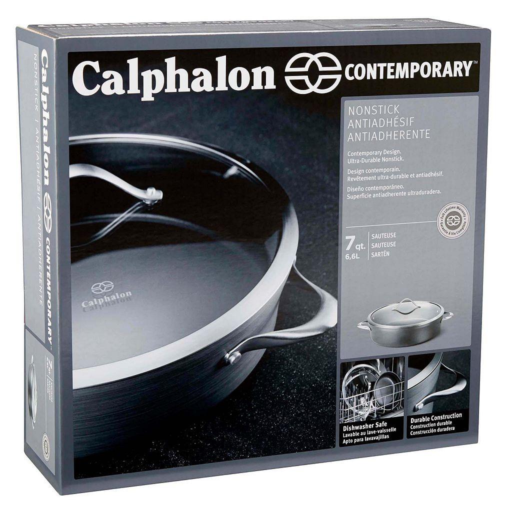 Calphalon Contemporary Nonstick 7-qt. Hard-Anodized Covered Sauteuse
