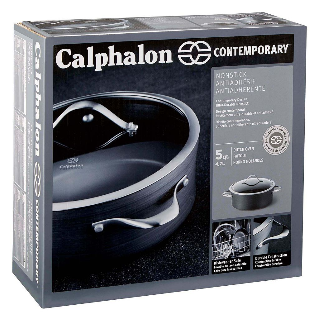Calphalon Contemporary Nonstick 5-qt. Hard-Anodized Covered Saucier