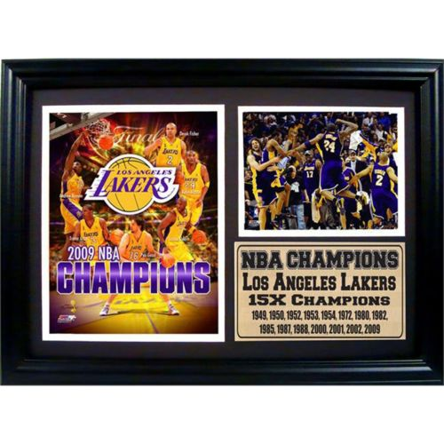 Los Angeles Lakers 2009 NBA Champions Photo Stat Frame