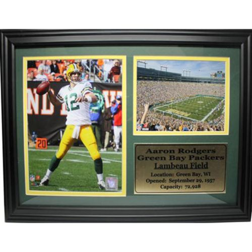 Green Bay Packers Aaron Rodgers Photo Stat Frame