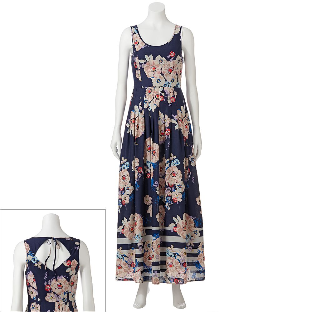 LC Lauren Conrad Floral Pleated Maxi Dress - Women's