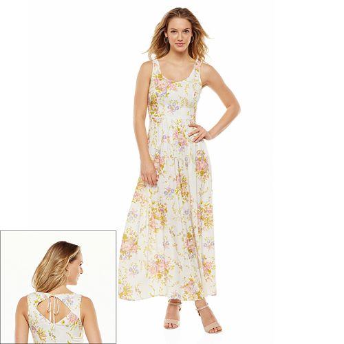 LC Lauren Conrad Floral Pleated Maxi Dress - Women's
