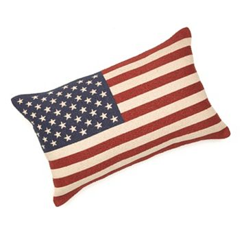 American Flag Tapestry Decorative Pillow