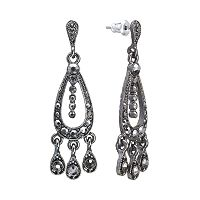 Downton Abbey® Jet Simulated Crystal Chandelier Earrings