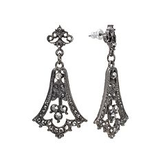 Downton Abbey® Jet Simulated Crystal Drop Earrings