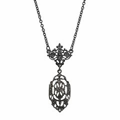 Downton Abbey® Jet Openwork Y Necklace