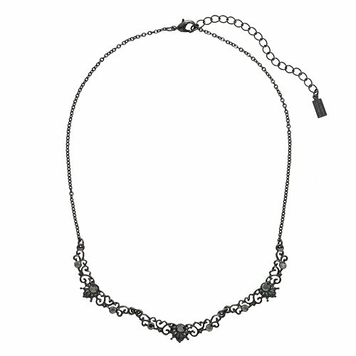 Downton Abbey® Jet Simulated Crystal Necklace